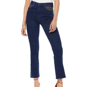 MOTHER High Waist Crop Flare Jeans